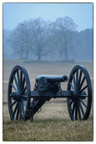 Foggy Morning at Chickamauga Battlefield