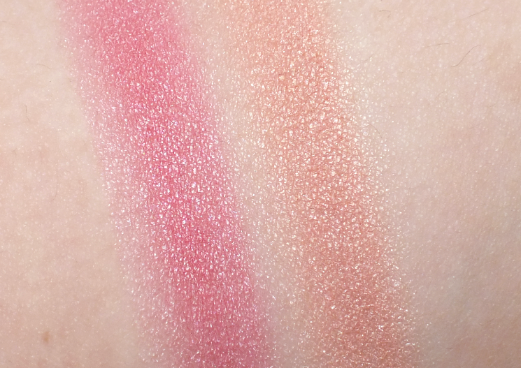 hard candy fox in a box baked blush girl next door & uptown girl swatches (2)