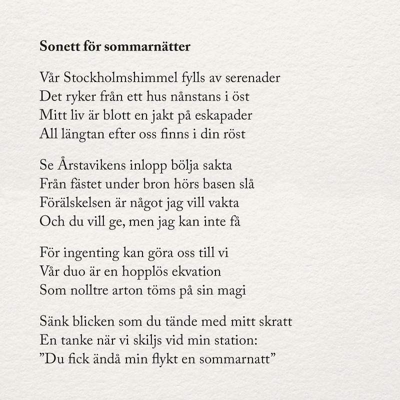 sonett för sommarnätter