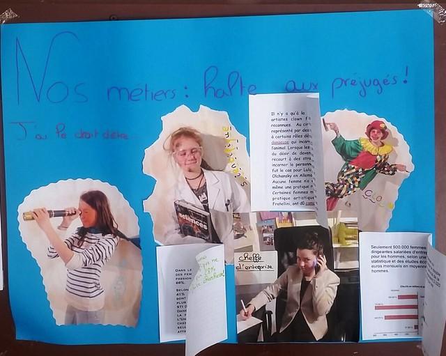 Une journée en faveur de l'égalité hommes-femmes organisé au collège Le Joran
