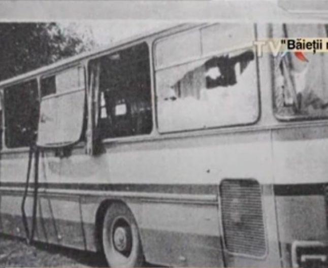 Autobuzul folosit in atacul terorist din Romania comunista