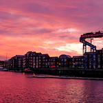Preston Docks at sunrise