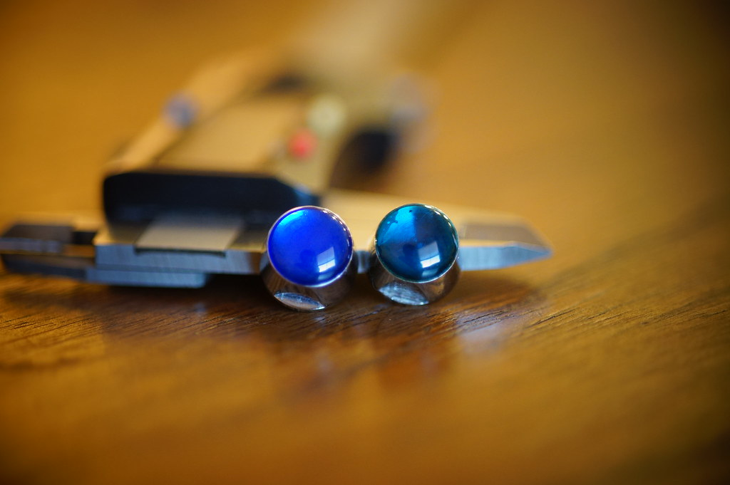 Campagnolo C-Record Cobalto Nuts Bolts PAIR new Vintage center bolts BLUE GEMS