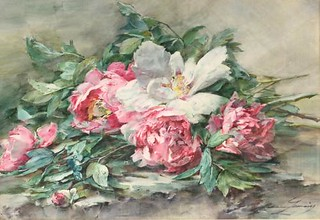 Peonies by Madelaine Lemaire (University of Dundee Museum Services)-500x343