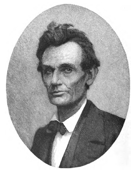 A Timothy Cole wood engraving taken from a May 20, 1860, ambrotype of Lincoln, two days following his nomination for President. Used as the frontispiece from 'The Autobiography of Abraham Lincoln' published in 1915.