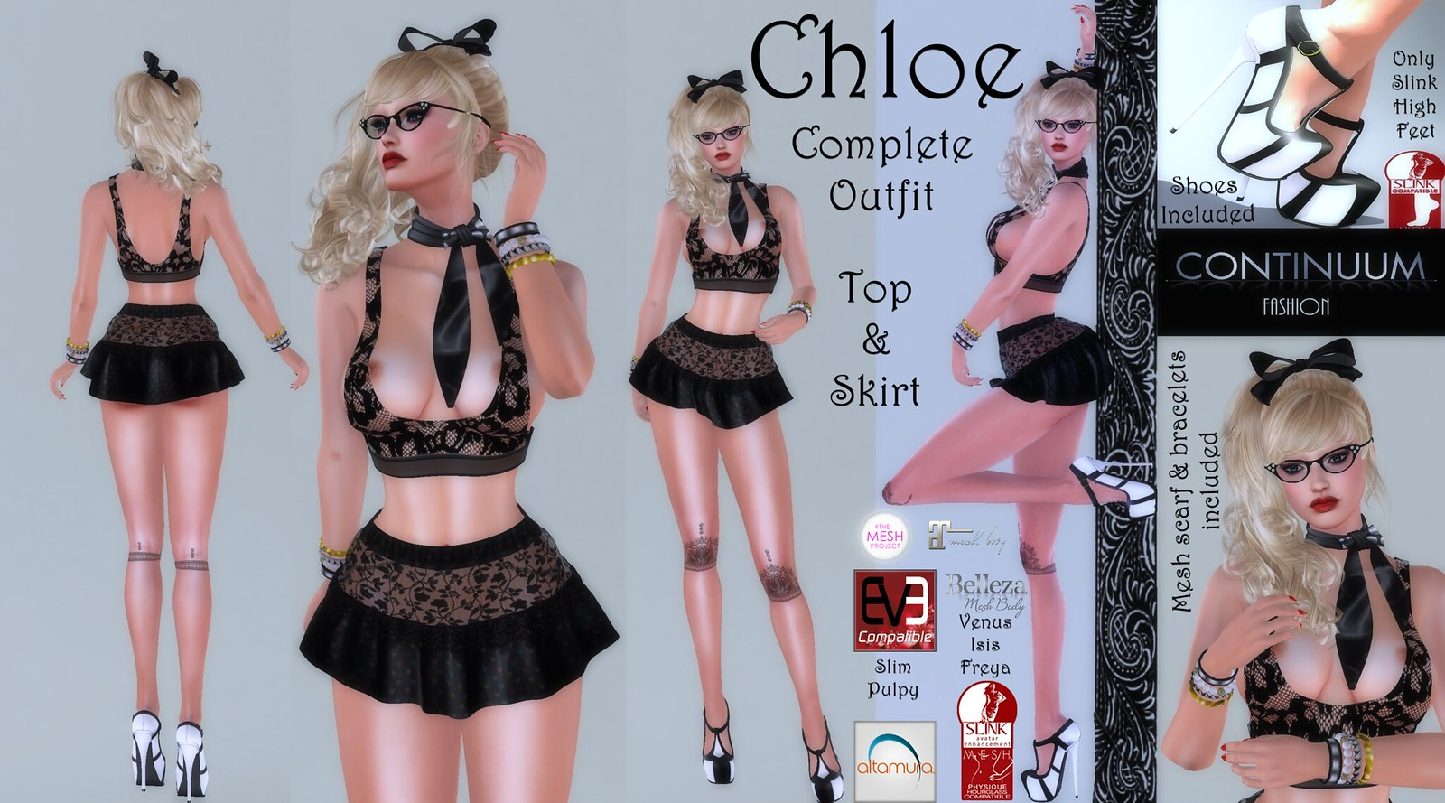 Continuum Chloe Black Outfit