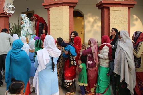 Devotees seeking blessings at Dhaulpur, Rajasthan