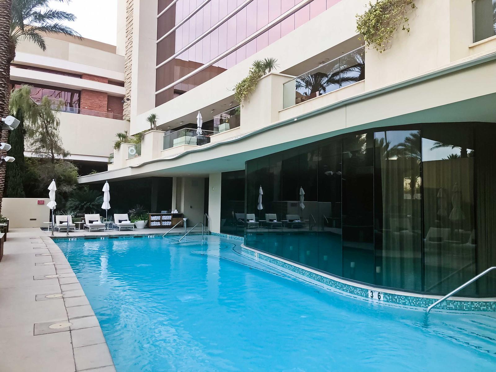 red rock resort spa pool area