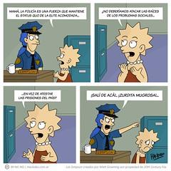 Lisa en contra de la policía