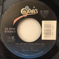 MICHAEL JACKSON:YOU ARE NOT ALONE(LABEL SIDE-A)