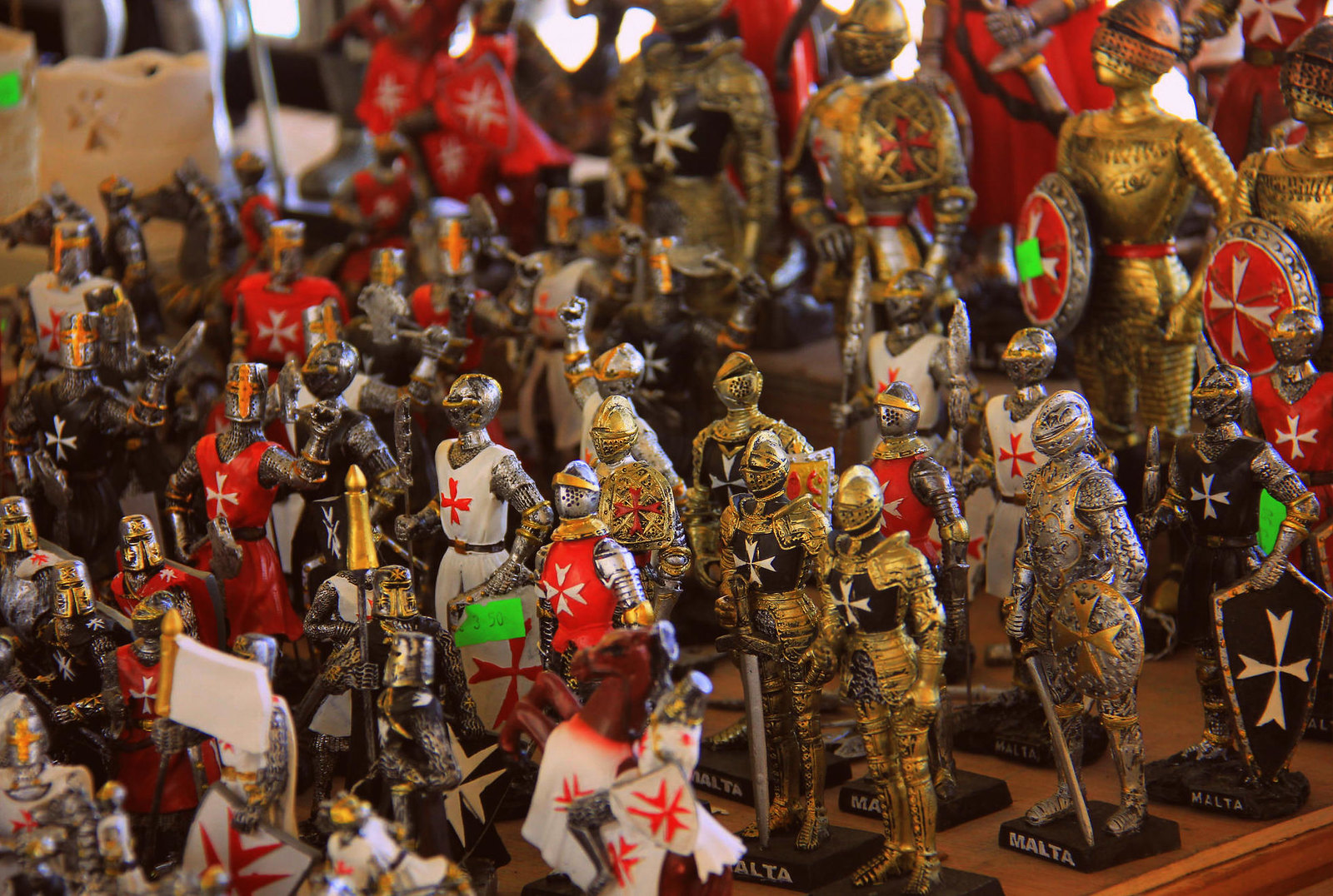 Malta Knights are popular souvenirs of Malta