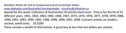 E-Sylum Stockley ad01 Numismatic Chronicle