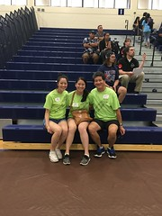 Hawaiian Electric at the Hawaiian Electric Companies Hawaii State VEX Robotics Championships - January 13-14, 2018: Carly H., Diana H., and Lloyd H. pose for a photo