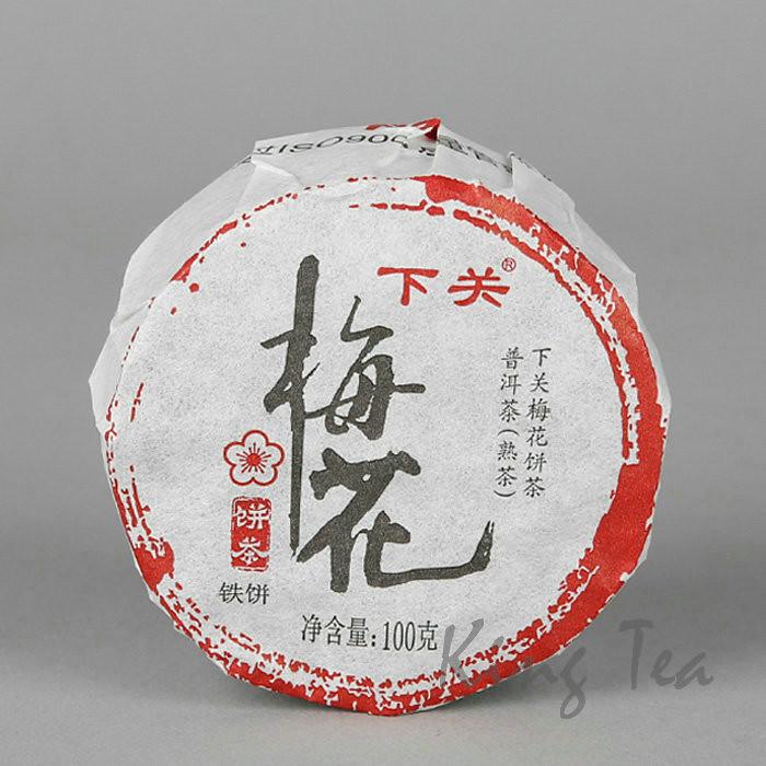 2017 XiaGuan MeiHua  Iron Cake  100g  Puerh Ripe Tea Shou Cha