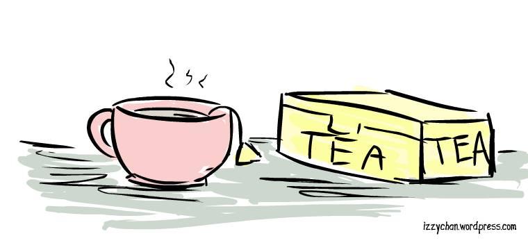 tea cup tea bags tea box