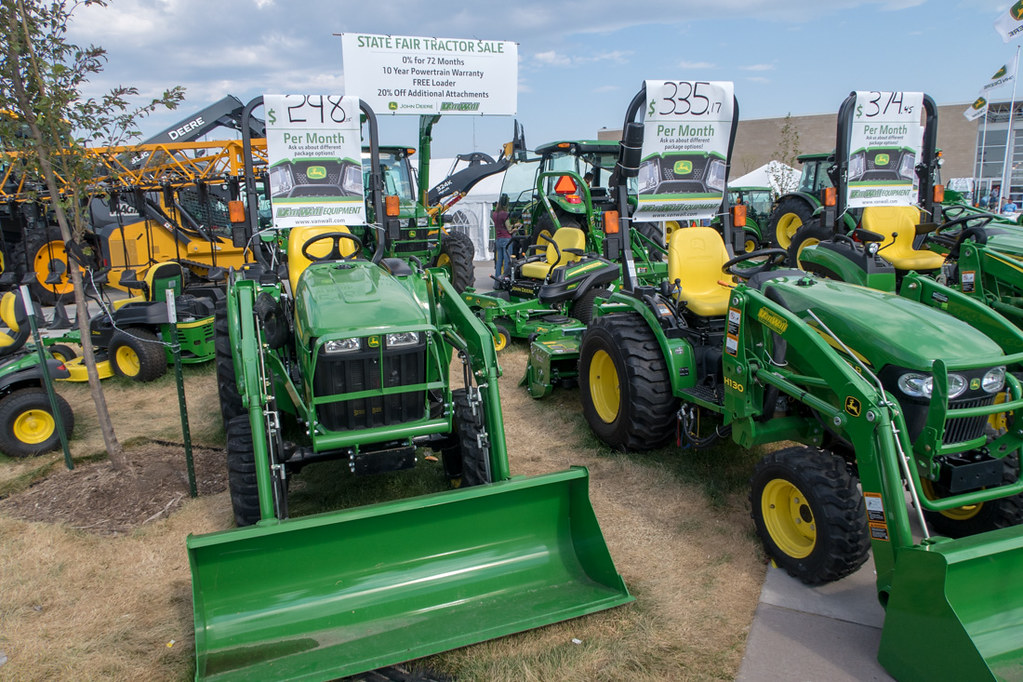 Farm Equipment and Tractor Displays at Iowa State Fair