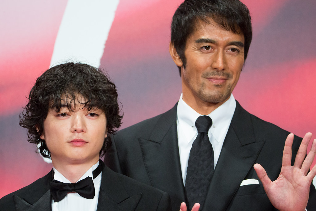 "Abe Hiroshi & Sometani Shota from ""Legend of the Demon Cat""at Opening Ceremony of the Tokyo International Film Festival 2017"
