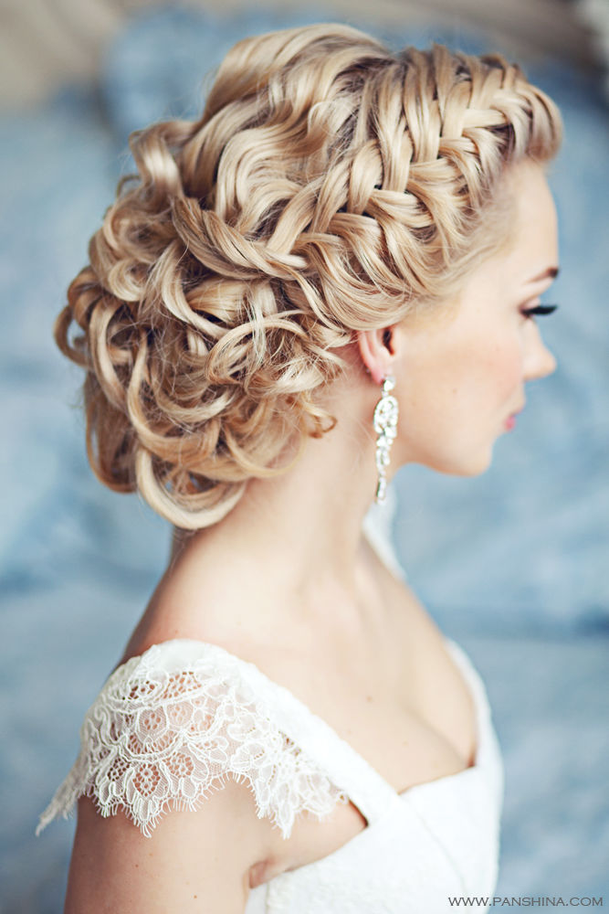 2018 day Long Length Blonde Hairstyles for Bride