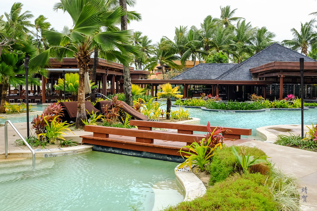 Landscaped pool