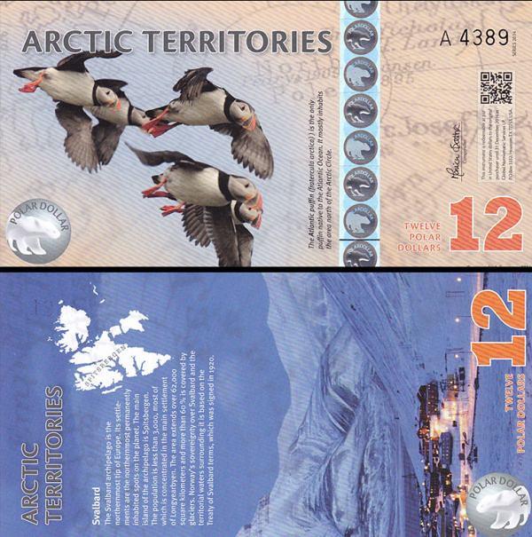 12 Polárnych dolárov Arktída 2014, polymer