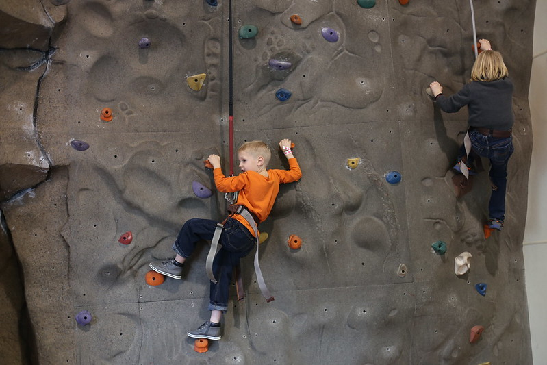 rock wall for the 1st time
