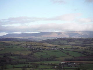 Northerly End of The Black Mountains, from Pen-y-crug