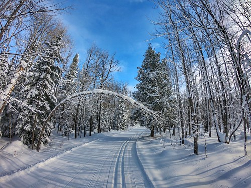 ABR Ski Trails in Ironwood, Michigan. Photographer Ted Nelson