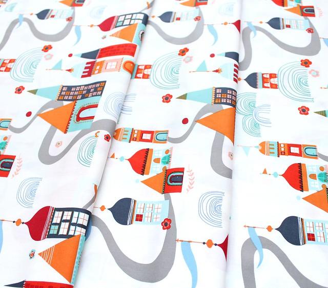 Art Gallery Fabrics Tallinn Village Meander