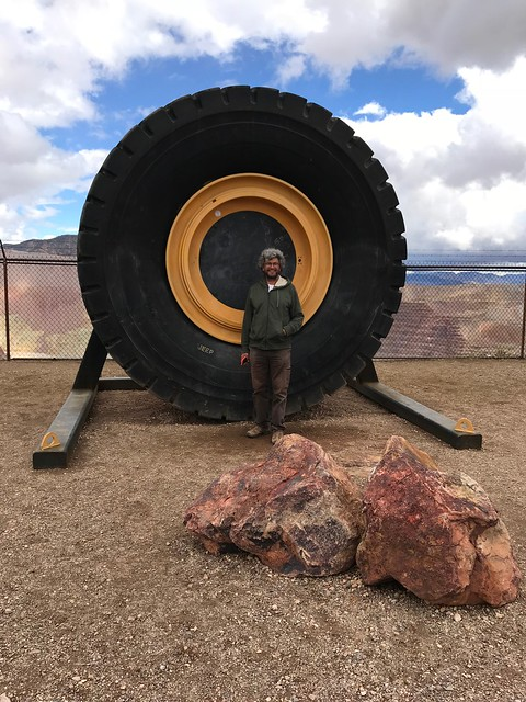 Morenci Mine - Pierre with Big Tire.