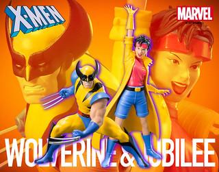 復古味滿滿滿~~ 壽屋 ARTFX+ 系列 Marvel Universe【金鋼狼&歡歡 雙人套組】ウルヴァリン&ジュビリー 2パック