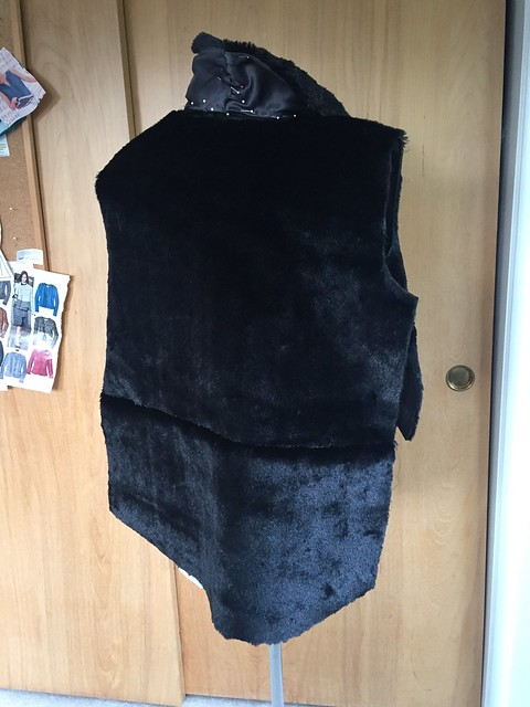 fur vest before elastic