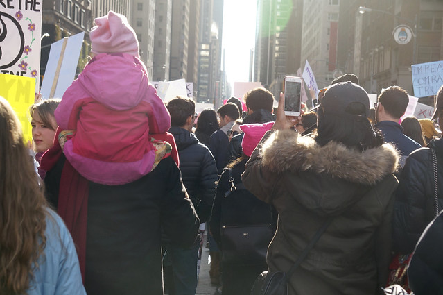 Women's March NYC, Sony NEX-5R, Sony E 55-210mm F4.5-6.3 OSS