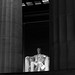 Lincoln Memorial at night--through the columns