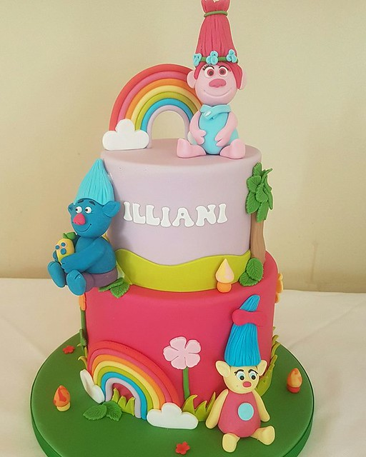 Trolls Cake by Utterly Charming Cakes