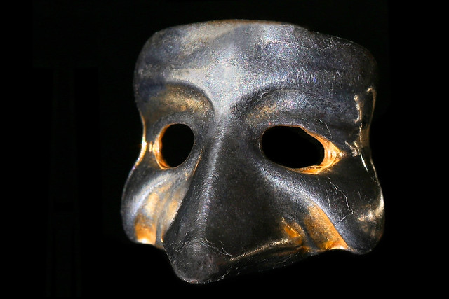 small silver plated Venetian mask