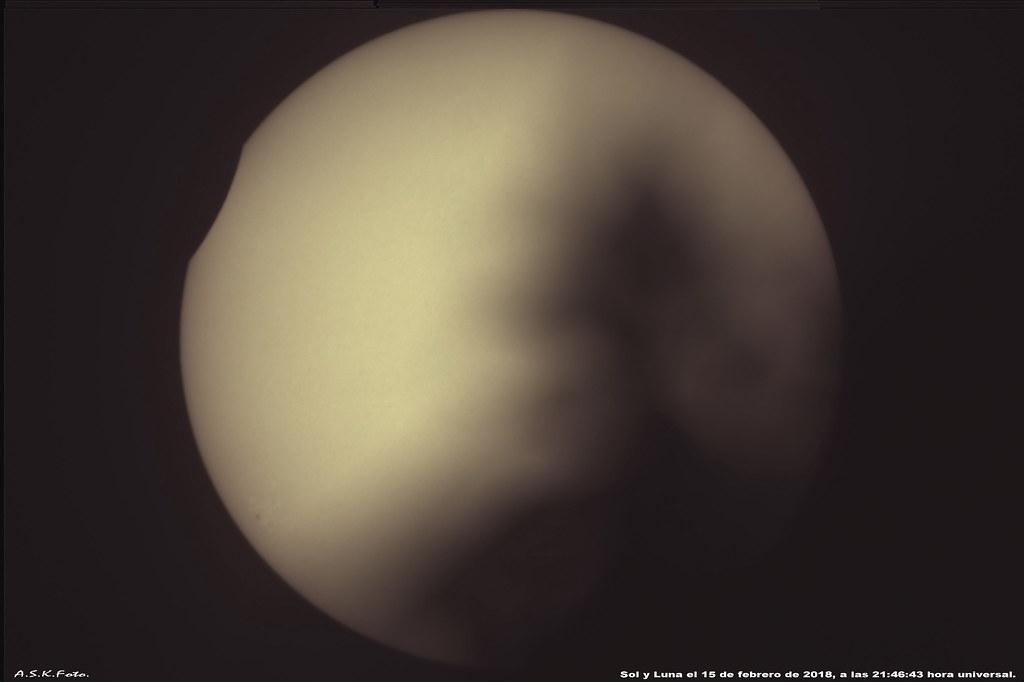 Eclipse Parcial de Sol, Rosario SF.  Argentina;  febrero de 2018.