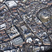 Norwich City Centre after the snow - aerial view