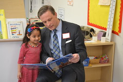 Rep. Fred Wilms (R-Norwalk, New Canaan) read to students at Brookside School in Norwalk for Read Across America - an annual event held on Dr. Suess's birthday (March 2) intended to promote literacy among youth across the country.