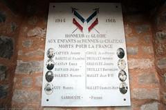 FR11 1843 WWI memorial. L'église Sainte-Marie-Madeleine. Rennes-le-Château, Aude, Languedoc