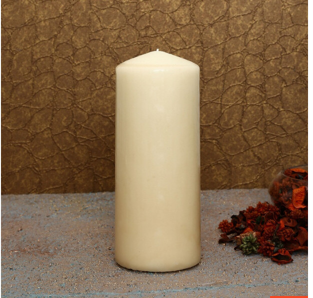 vanilla pillar candle at home centre