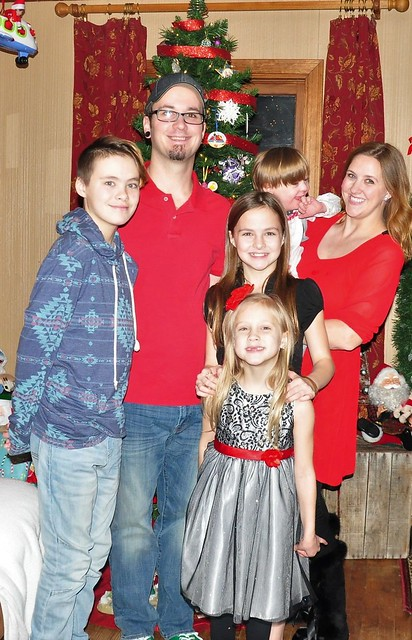 Christmas Eve family photo