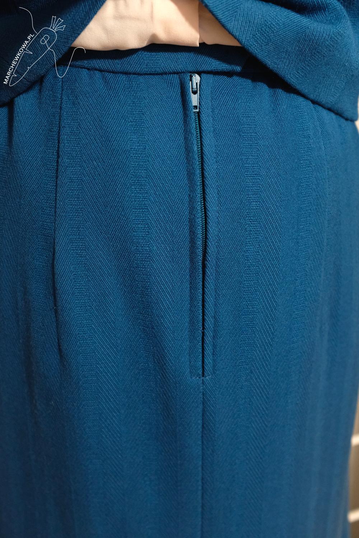 marchewkowa, blog, szycie, sewing, rękodzieło, handmade, moda, styl, vintage, retro, repro, 1950s, 1960s, Wrocław szyje, w starym stylu, wool, siut, jacket, skirt, teal,