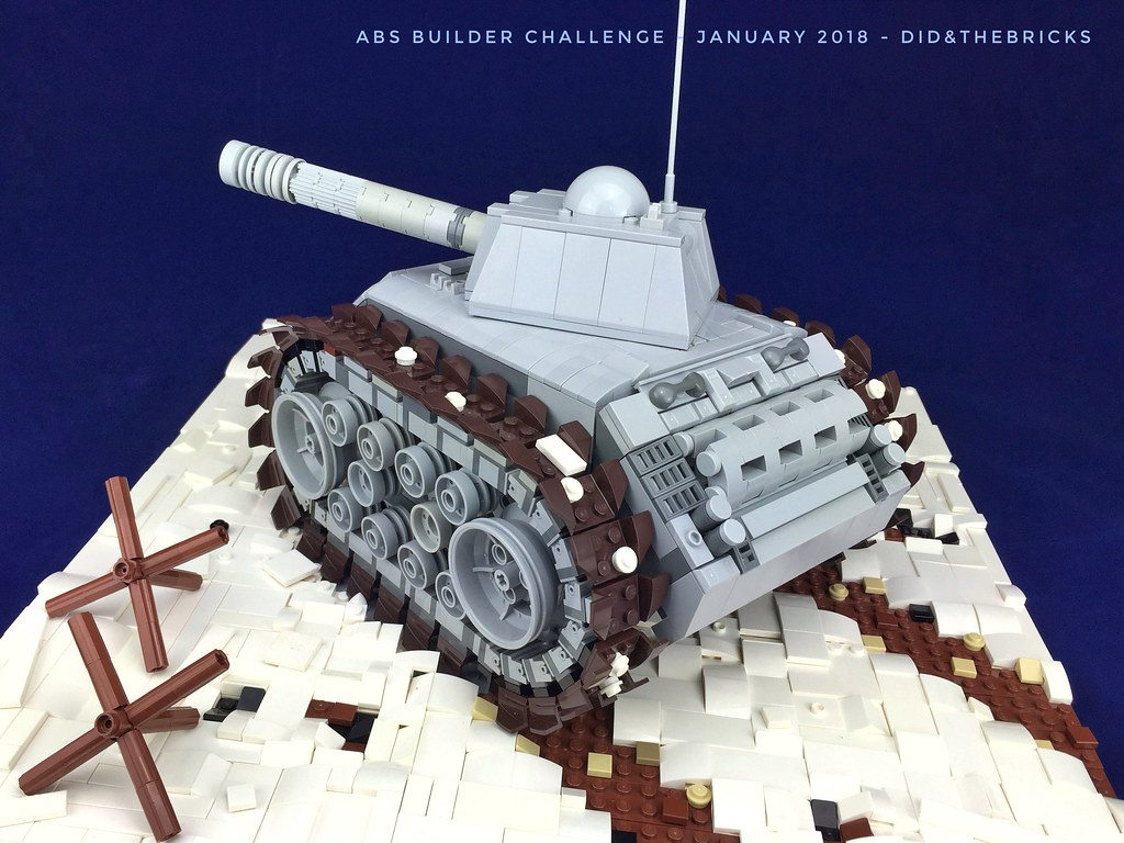 ABS Builder Challenge - Tank in a winter battle field