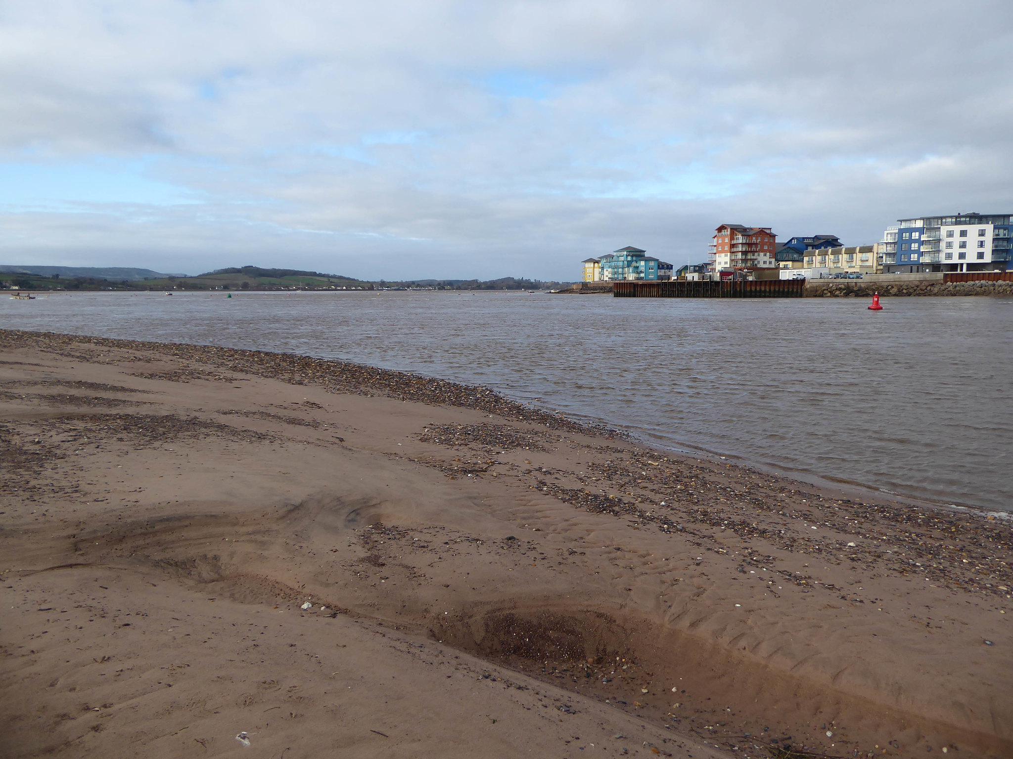 Warren Point and river Exe looking to Exmouth