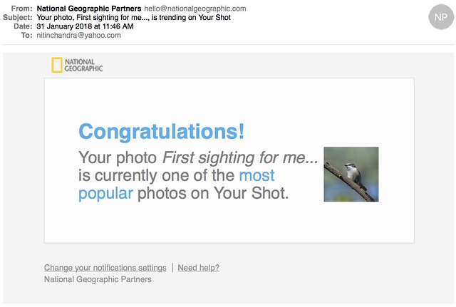 Your photo First sighting for me is trending on Your Shot