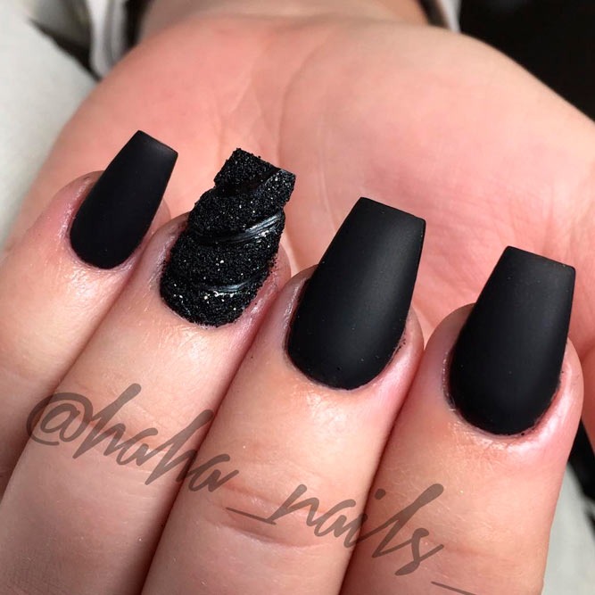 Top Most Creative Black Acrylic Nails Designs For 2018 - Hairstyles 19