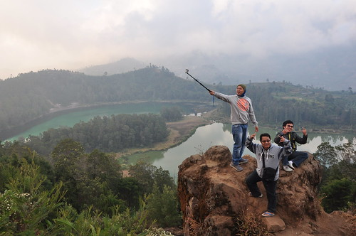 Selfies at high altitude in Java. From A Geek in Indonesia: Discover the Land of Komodo Dragons, Balinese Healers, and Dangdut Music
