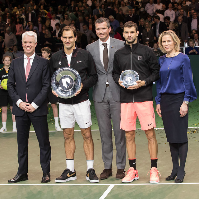 Roger Federer and Grigor Dimitrov, Rotterdam 2018