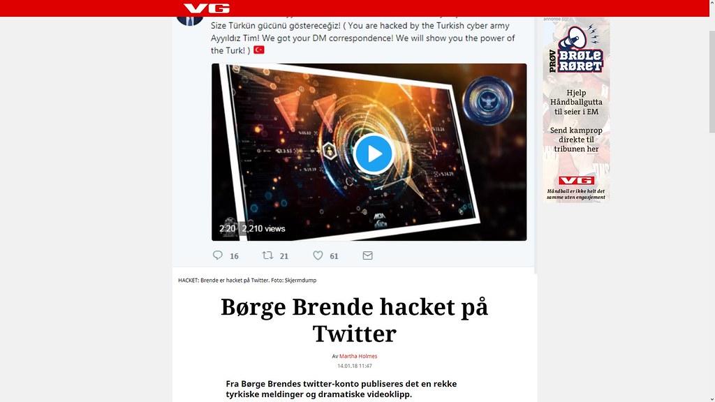 jeg ble også angrepet av tyrkiske hackere for en del år tilbake