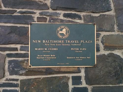 New Baltimore Travel Plaza (1) #newyork #newbaltimore #newbaltimoretravelplaza #plaque #latergram